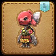 Image de présentation de la mascottes Kojin rouge mécanique