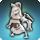 Icone de présentation de la mascotte Mini Cavalier Blanc