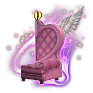 Image de présentation de la mascottes Fauteuil demi-cœur droit volant